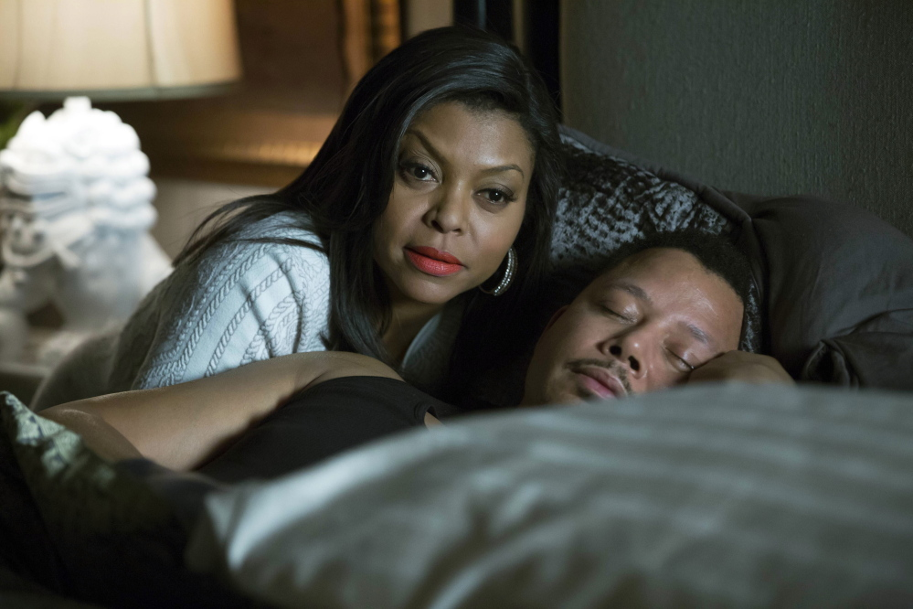 "Taraji P. Henson and Terrence Howard in ""Empire."" Henson is nominated for an Emmy for outstanding lead actress in a drama series. Fox"