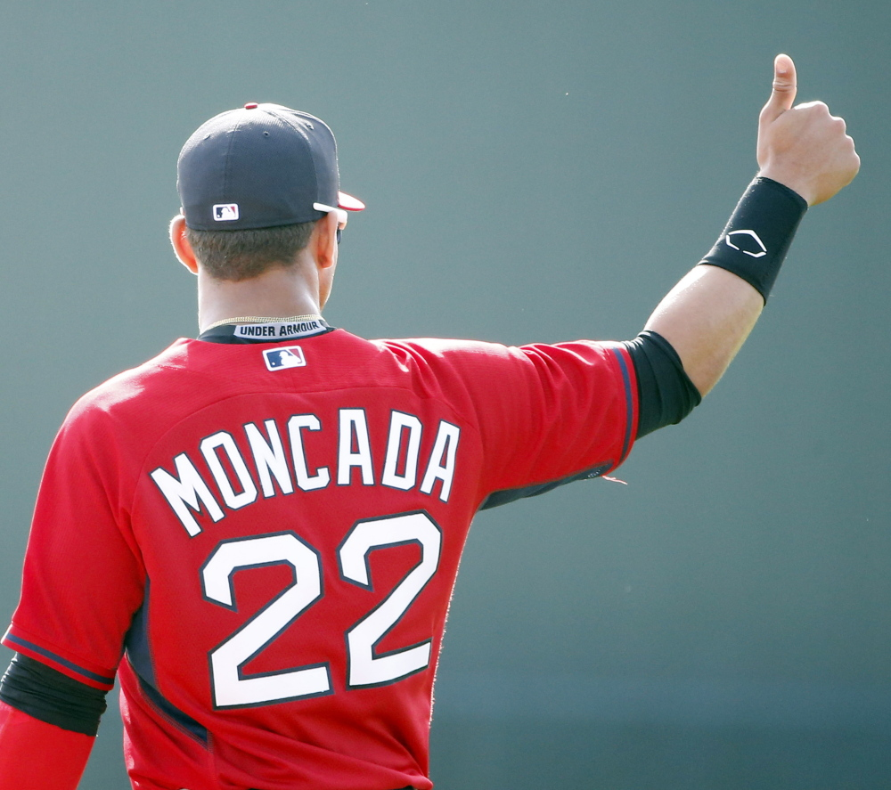 After a slow start, Yoan Moncada has drawn rave reviews in the Red Sox farm system. One scout compared him to Mike Trout.