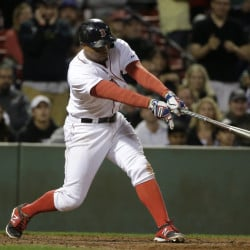 Red Sox shortstop Xander Bogaerts hits a grand slam in the eighth inning against the Tampa Bay Rays, a shot that was enough to give Boston the win.