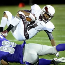 Two weeks after losing standout running back Dylan Koza to a season-ending injury, Windham suffered another big loss when Eric Webb, top, was injured on the final play of the game last Friday against Portland. Webb sustained a torn Achilles' tendon and is out for the rest of the season.