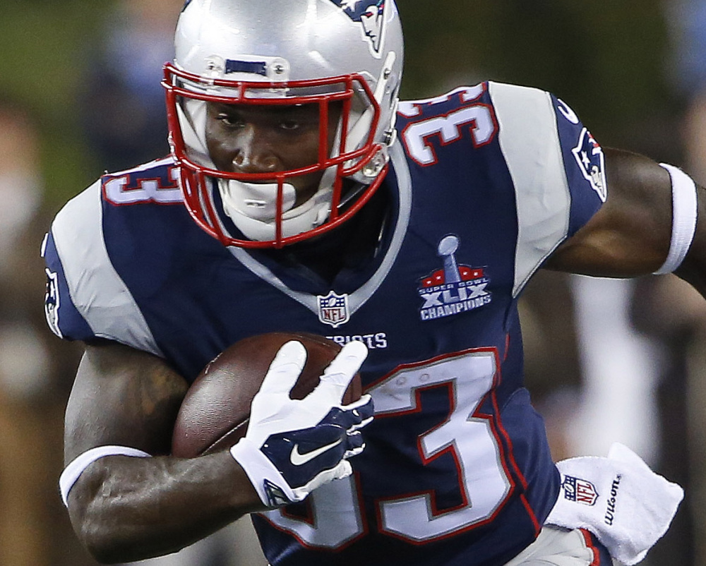 Dion Lewis signed a two-year extension with the Patriots on Thursday. Through three games he is averaging 4.9 yards on 30 carries and has 15 receptions for 179 yards.