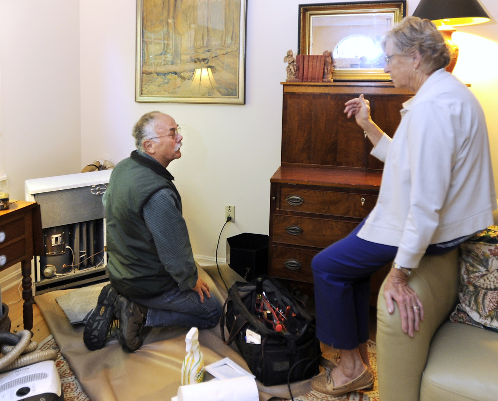 Servicers For Once Popular Monitor Heaters Dwindle Portland Press Mpi Heater Main Circuit Board Model 21 Ebay Ken Gaudin Talks With Yarmouth Client Tracy Booth Whose Heating Unit He Has Serviced