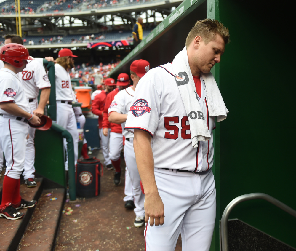 Jonathan Papelbon's season with the Washington Nationals is over after his altercation in the dugout with NL MVP front-runner Bryce Harper.