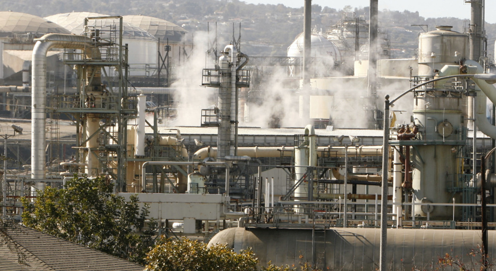 "The EPA is requiring oil refineries to install monitors along ""fence lines""with neighbors."