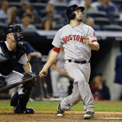 Red Sox catcher Blake Swihart hits a two-run home run in the eighth inning Tuesday night as Boston puts the game out of reach.
