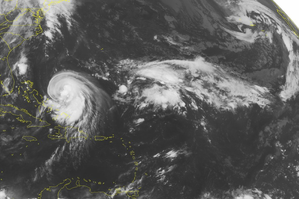 The Associated Press This NOAA satellite image taken Wednesday, September 30, 2015 at 12:45 AM shows Tropical Storm Joaquin barreling into the Bahama Islands with maximum sustained winds of seventy miles per hour.