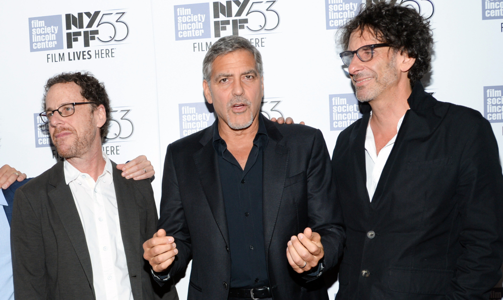 "Ethan Coen, George Clooney and Joel Coen attend a special 15th anniversary screening of  ""O Brother, Where Art Thou?"" on Tuesday."