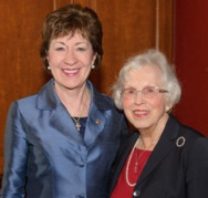 U.S. Sen. Susan Collins, R-Maine, accompanies her mother, Patricia Collins of Caribou, who was the senator's gallery guest Thursday.