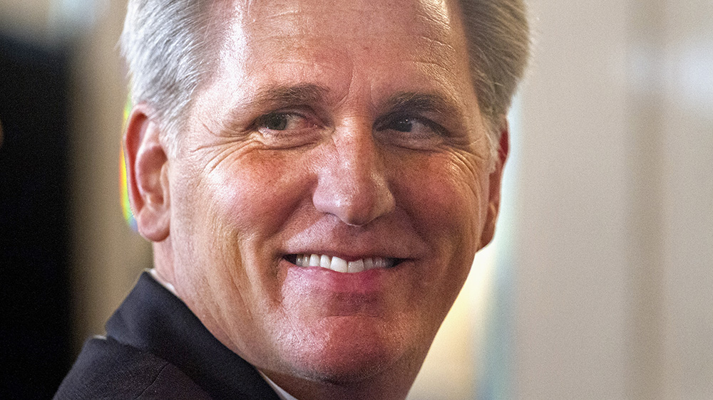 House Majority Leader Kevin McCarthy of California. The contest to replace him as majority leader also features established congressional leaders: House Majority Whip Steve Scalise of Louisiana and Budget Committee Chairman Tom Price of Georgia. The Associated Press