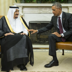President Obama meets with King Salman of Saudi Arabia on Friday. The meeting comes as Saudi Arabia seeks assurances on the Iran nuclear deal. The Associated Press