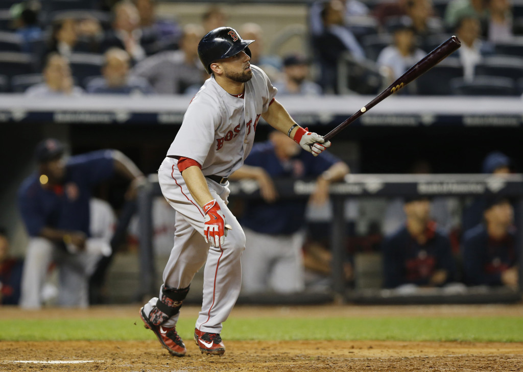 Boston's Deven Marrero hits his first major league home run, a ninth-inning solo home run that gave the Red Sox a 5-1 lead.