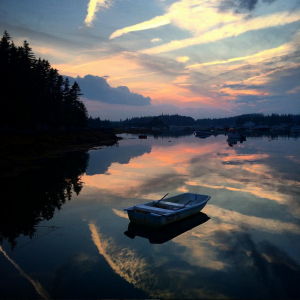Sunset on Vinalhaven by @brianwebsternp