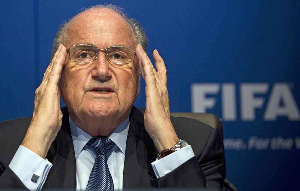 FIFA President Sepp Blatter was interrogated by the Swiss authorities after chairing a meeting of FIFA's executive committee on Friday. The Associated Press