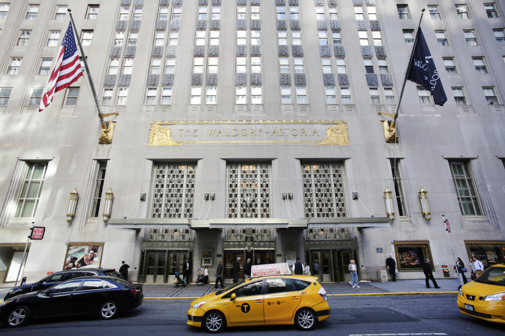 The famed Waldorf-Astoria Hotel passed into Chinese ownership last year. A previously little-known Chinese insurance company called Anbang Insurance Group acquired the hotel for $1.95 billion in a deal that closed in February. The Associated Press