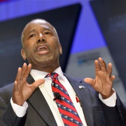 Republican presidential candidate Ben Carson says the Islamic faith is inconsistent with the Constitution. The Associated Press