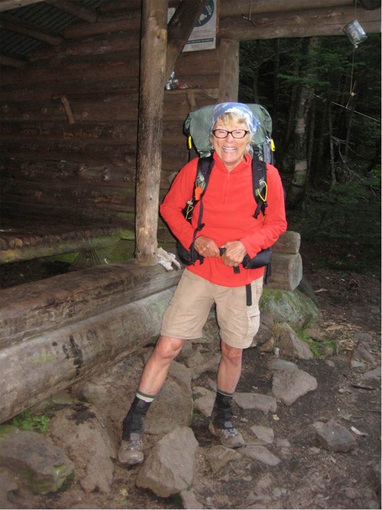 Geraldine Largay is shown on the Appalachian Trail two days before she was reported missing in 2013.