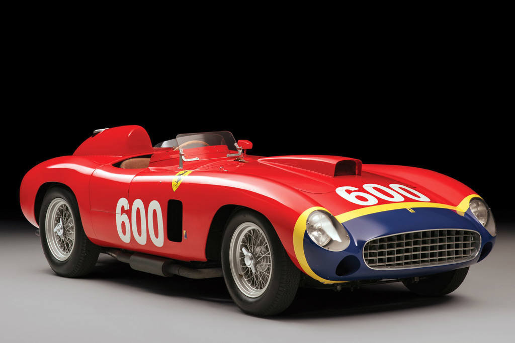 A 1956 Ferrari 290 MM, built for Formula One legend Juan Manuel Fangio, is going on the auction block in New York City. The Associated Press