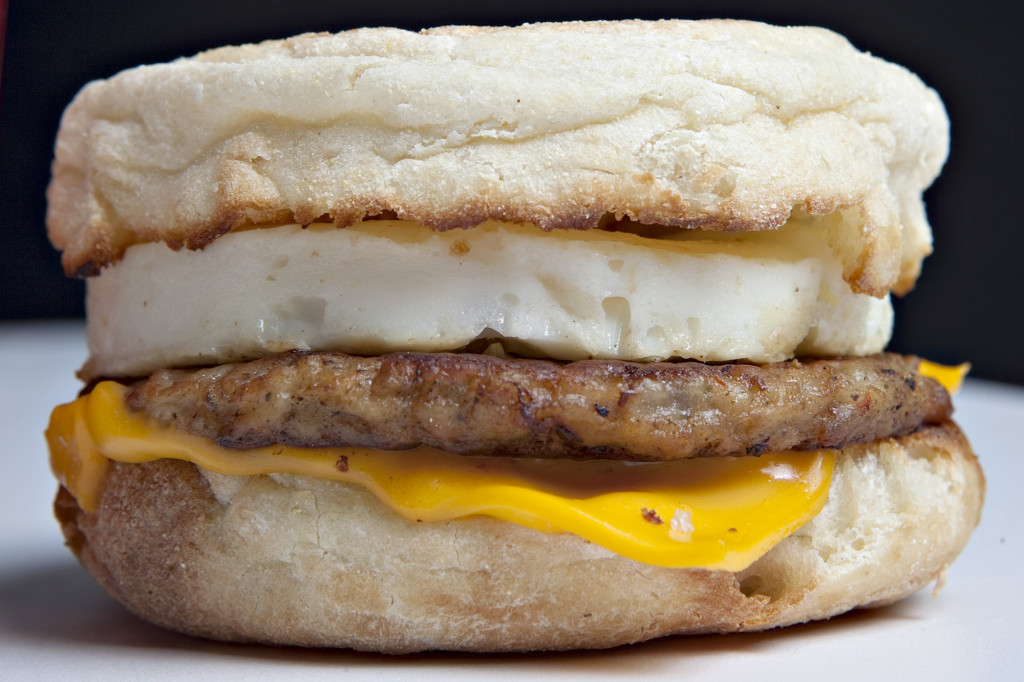 A McDonald's Sausage McMuffin with egg. Breakfast sandwiches like this possess a long and surprising history.