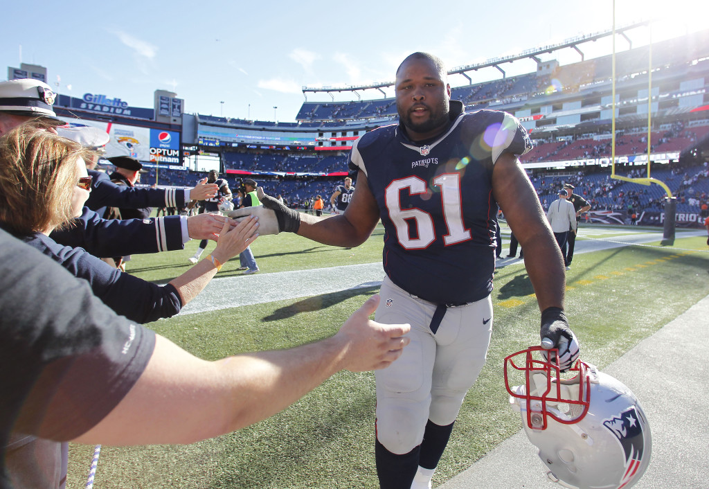 New England Patriots offensive lineman Marcus Cannon has earned high-fives from fans and teammates alike for his versatility and willingness to play whatever position the team needs him to.  The Associated Press