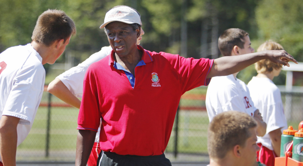 Wells Coach Patrick Udeh is all business on the soccer field, and it has helped the Warriors become successful. They are 4-3-1 with six games remaining.