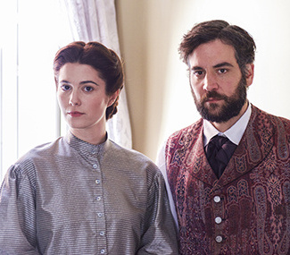 "Mary Elizabeth Winstead and Josh Radnor in ""Mercy Street,"" a Civil War drama debuting in January on PBS."
