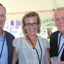 Kevin Thomas, publisher of Maine Media Collective and host of Maine Live, with Gretchen Johnson, director of marketing at Verrill Dana, and Dan Crewe, one of the day's featured speakers.