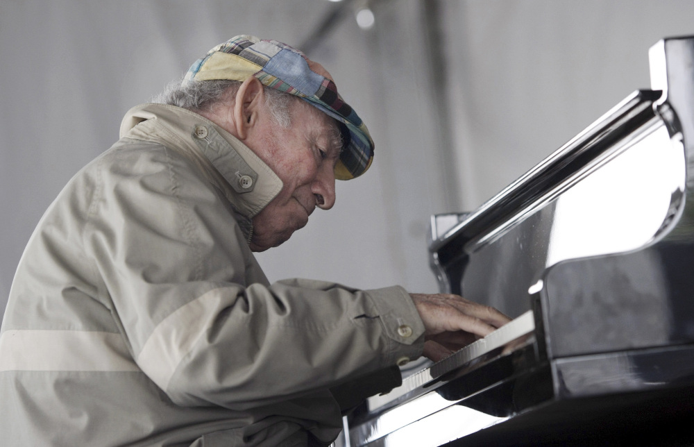 Newport Jazz Festival founder George Wein performs at the festival in Newport, R.I. On the eve of turning 90 Friday, he took to the stage at Lincoln Center.