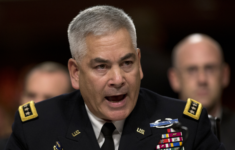 Gen. John F. Campbell testifies before the Senate Armed Services Committee on Tuesday.