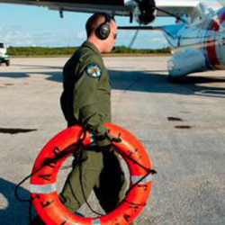 The first El Faro life ring found on the scene is transported back to the US in this handout photo provided by the US Coast Guard, October 6, 2015. Search and rescue teams resumed scouring the seas on Monday for the missing cargo ship El Faro and it mostly American crew, after it was caught in the eye of Hurricane Joaquin, the U.S. Coast Guard said. REUTERS/US Coast Guard/Handout via Reuters   ATTENTION EDITORS - FOR EDITORIAL USE ONLY. NOT FOR SALE FOR MARKETING OR ADVERTISING CAMPAIGNS. THIS IMAGE HAS BEEN SUPPLIED BY A THIRD PARTY. IT IS DISTRIBUTED, EXACTLY AS RECEIVED BY REUTERS, AS A SERVICE TO CLIENTS - RTS3BHP