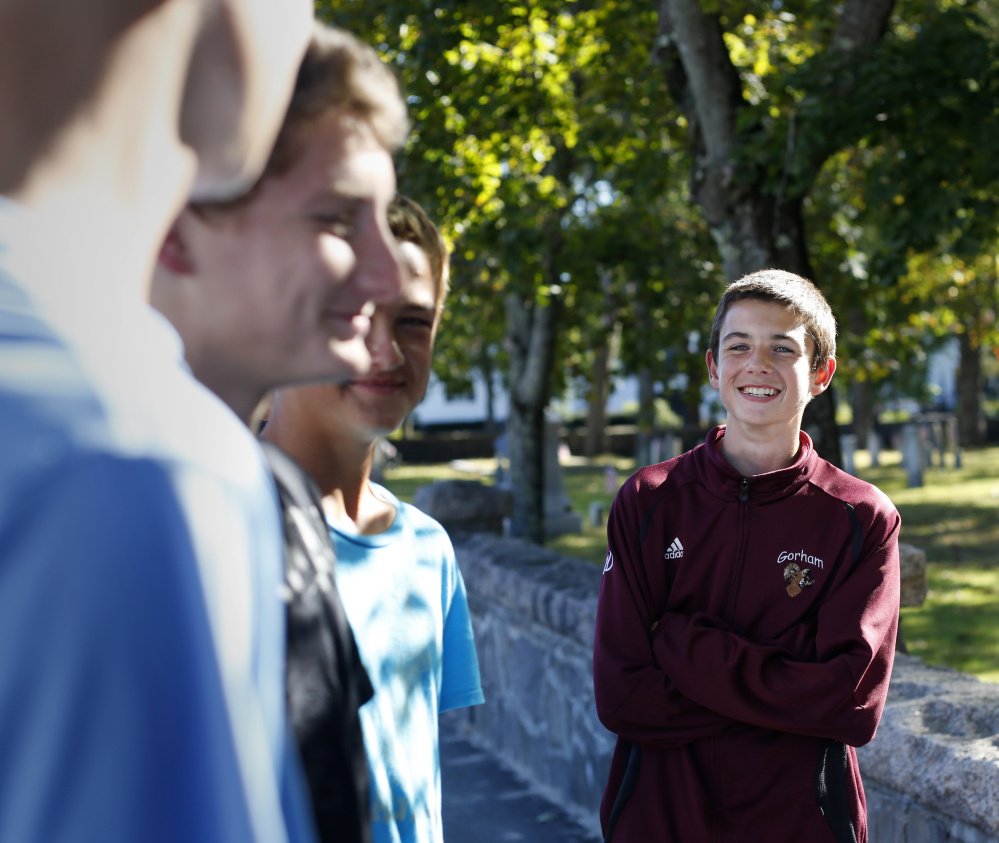 "Cooper Lyons, 14, a freshman at Gorham High School, said, ""I would have definitely wanted a homecoming dance."""