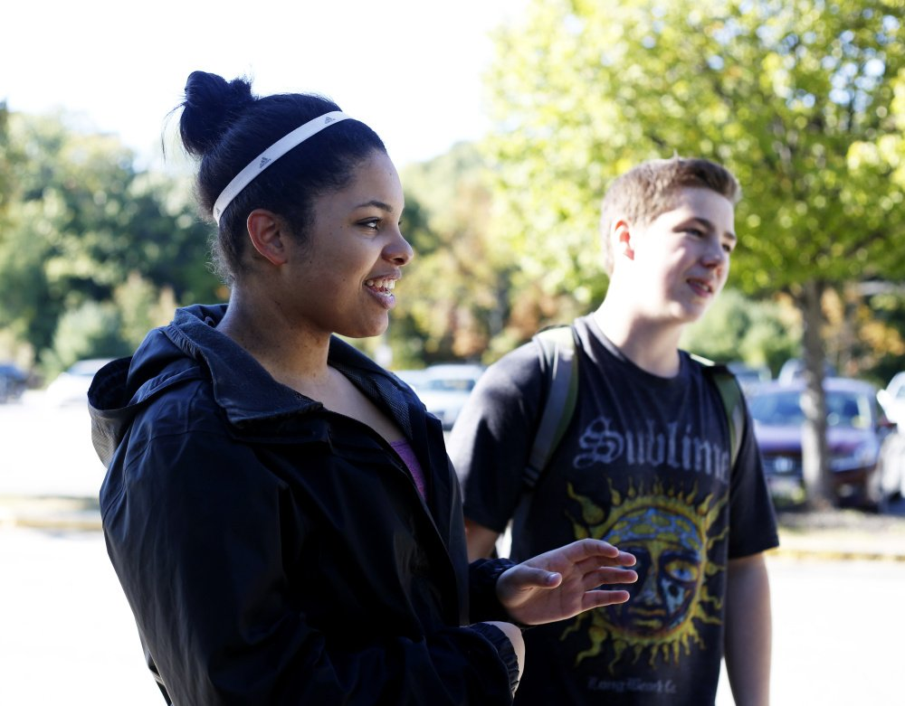 Kiara Sweet, 18, and Felixx Pease, 16, both juniors at Gorham High School, say they are upset with the school's decision not to hold dances this year.