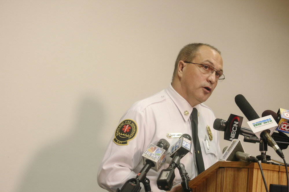 Portland Fire Chief Jerome LaMoria is resigning effective Oct. 20.