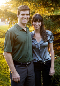 Travis Walsh and his wife, Chelsea, who got married July 25 in Maine.