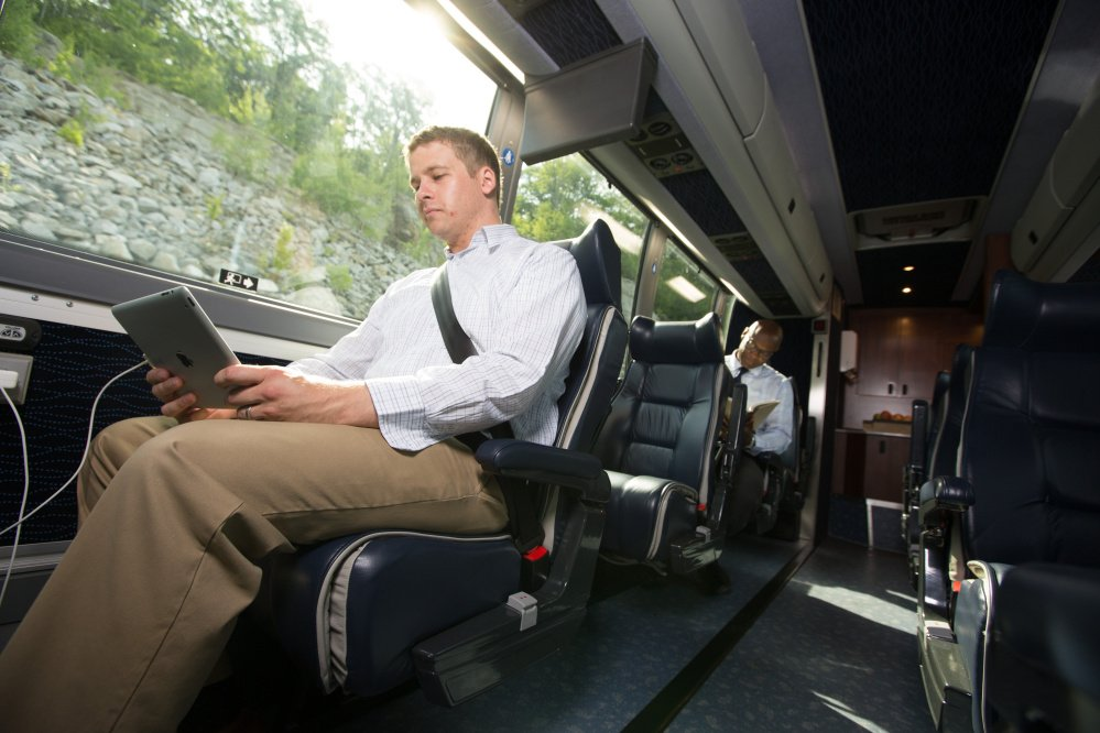 The buses on Concord Coach Lines' New York route will hold 30 passengers and have leather seats, WiFi and power outlets at each seat.