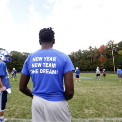 Last season? Kennebunk had a losing record and made a quick exit from the Class B playoffs. This year? Well, senior Raheem Tomlinson's shirt says it best. The Rams are back, with a 5-0 record, and playing together.