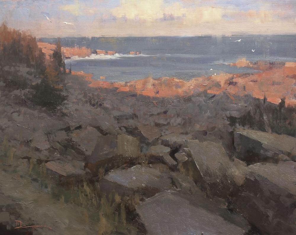 "Roger Dale Brown, ""Monhegan Glow"""