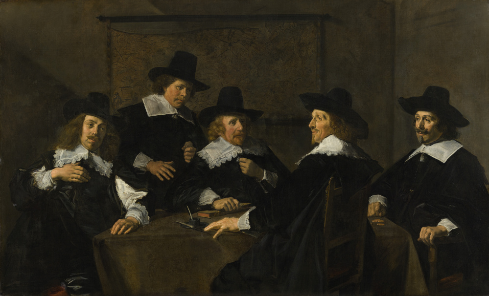 Regents of the St. Elisabeth Hospital of Haarlem. Frans Hals (Dutch, 1581 to 1585-1666) 1641.Oil on canvas. Frans Hals Museum Haarlem.