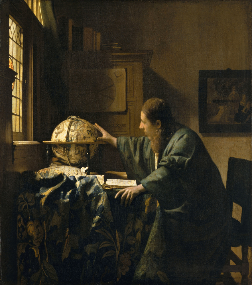 """The Astronomer,"" by Johannes Vermeer (1632–1675) 1668, oil on canvas."