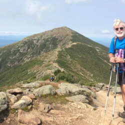 The Alpine heights of Franconia Ridge in New Hampshire provided another challenge conquered and another panoramic view along the Appalachian Trail.