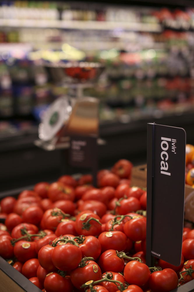 Produce sourced locally is identified as such in the grocery area of the Target in Minnetonka, Minn. (Jeff Wheeler/Minneapolis Star Tribune/TNS)