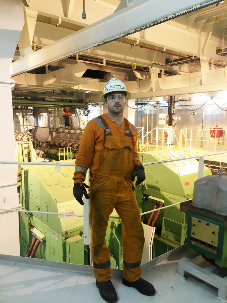 The day after the vigil, Josh Elwell,was back to work aboard the Maersk Valiant in the Gulf of Mexico. Photo courtesy Josh Elwell