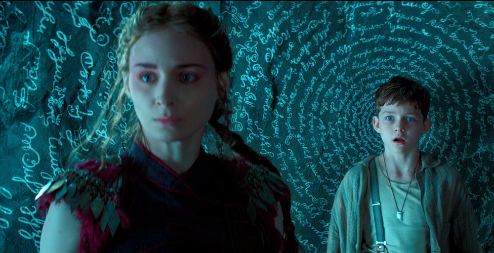 "Rooney Mara, left, plays Tiger Lily and Levi Miller plays Peter in ""Pan."""