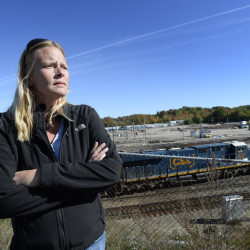 "Trina Stoehr lives near Rigby Yard, where a company hopes to site a fuel depot. Stoehr is opposed. ""We can close our eyes and hope nothing happens, but if it does, we're all goners,"" she said."