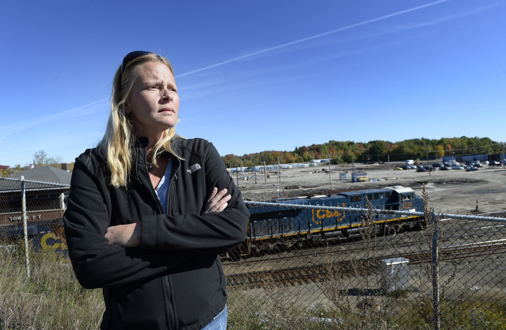 """Trina Stoehr lives near Rigby Yard, where a company hopes to site a fuel depot. Stoehr is opposed. """"We can close our eyes and hope nothing happens, but if it does, we're all goners,"""" she said."""