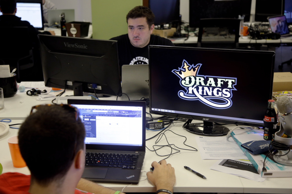 DraftKings and FanDuel say their fantasy sports websites are legal because they provide games of skill, not chance.