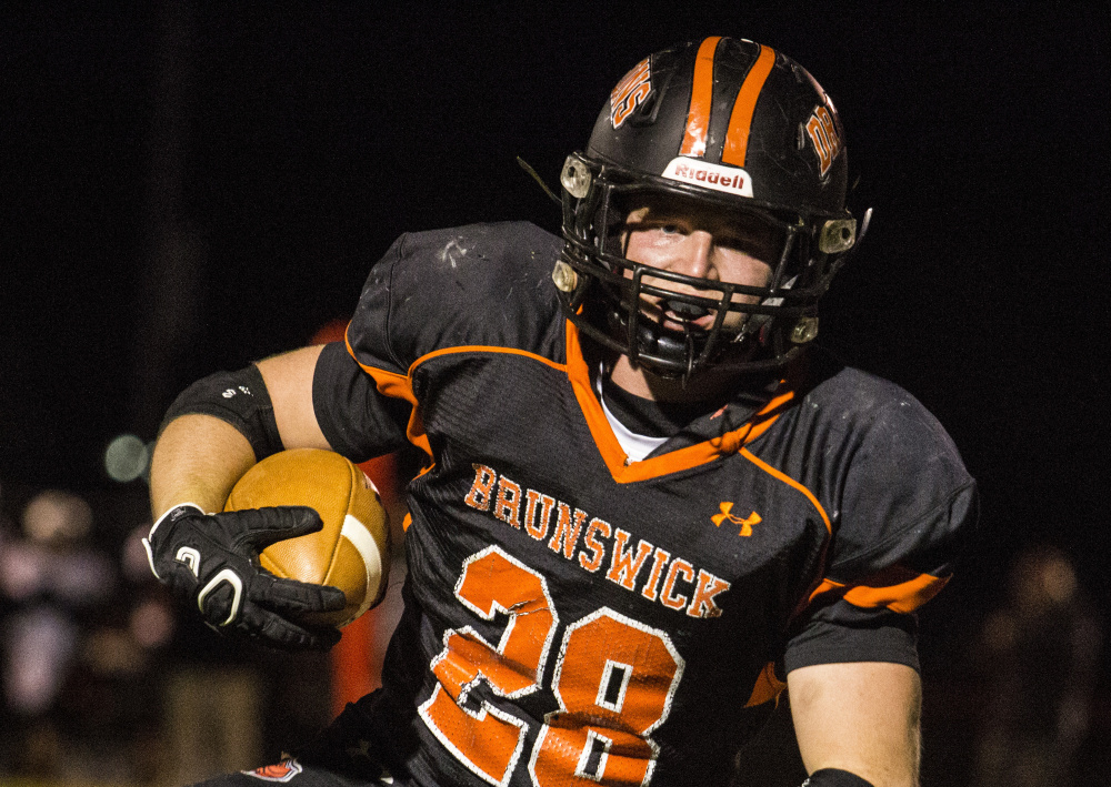 Will Bessey of Brunswick, who suffered a hip pointer last Friday during a loss at Brewer, is expected to play Friday night at Mt. Blue.