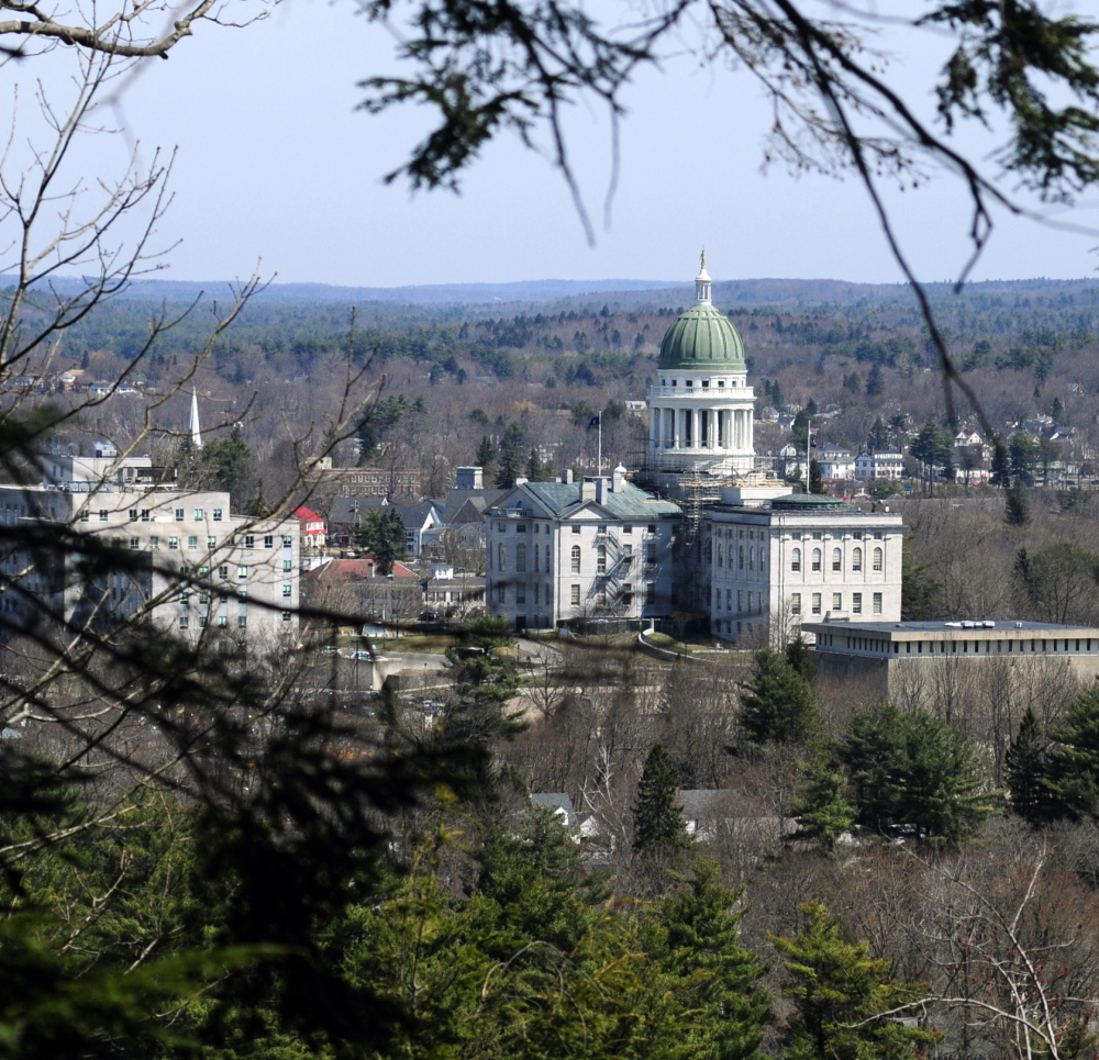 The view from Howard Hill in Augusta. The Kennebec Land Trust wants to give it to the city to be preserved.