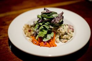 The Schwabish salad features house-pickled carrots, beets, potato salad, sauerkraut and dressed greens. Gabe Souze/Staff Photographer