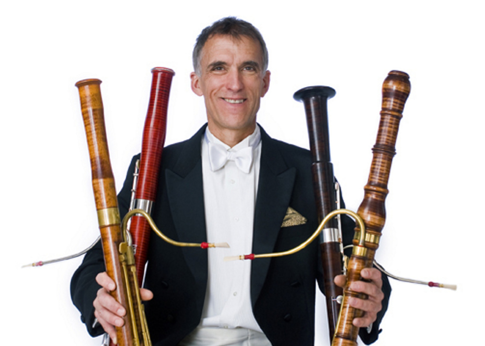 Courtesy photo Charles Kaufman, founderand director of Portland's Longfellow Chorus, fancies early bassoons.