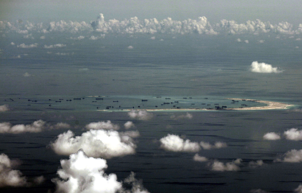 China' has created man-made islands that have been in dispute in the South China Sea